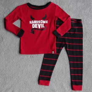 toddler handsome devil pajama set